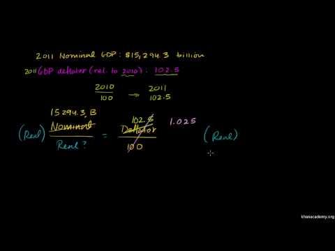 Saylor ECON102: Example Calculating Real GDP with a Deflator