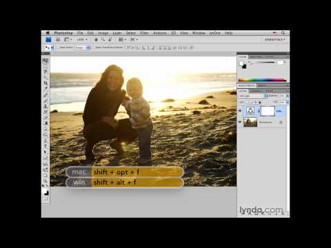 Photoshop: Adjusting color and tone in a sunset portrait | lynda.com