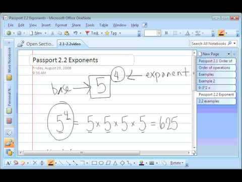 order of operations and exponents