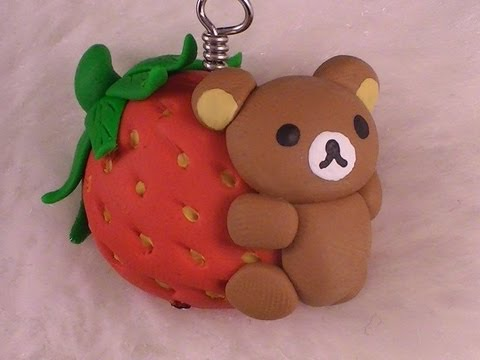 Polymer Clay Rilakkuma Strawberry