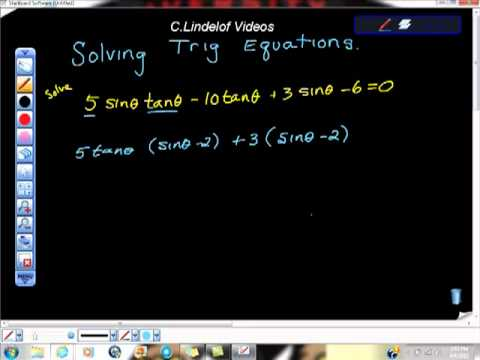 Solving Trig Functions AP Calculus and Trig