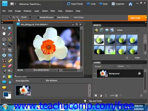 Photoshop Elements 9.0 Tutorial The Quick Selection Tool Adobe Training Lesson 8.7