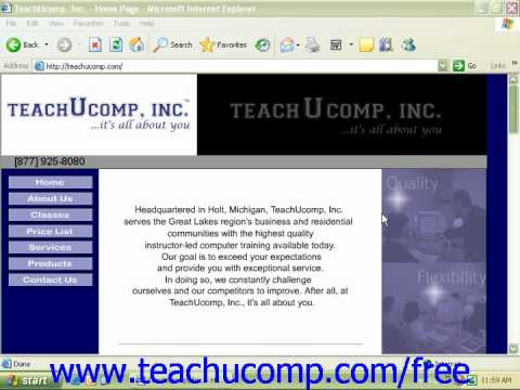 Windows XP Tutorial Firewalls Microsoft Training Lesson 7.7