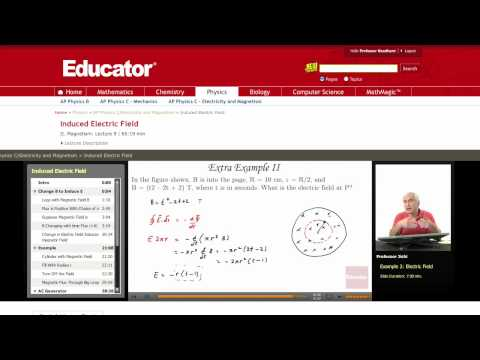 Physics: Induced Electric Field