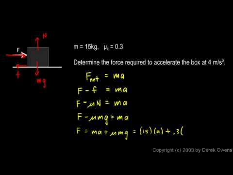 Physics 4.7.3c - Friction Example 3