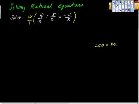 Solving Rational Equations Pt I
