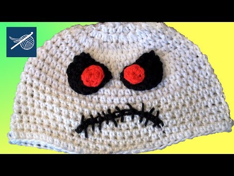 Zombie Skeletor Crochet Hat Left Hand Version