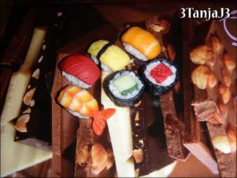 Polymer Clay: *Sushi* Salmon, Omelet, Tuna & Shrimp