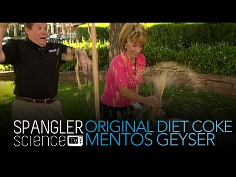 Original Mentos Diet Coke Geyser - Cool Science Experiment
