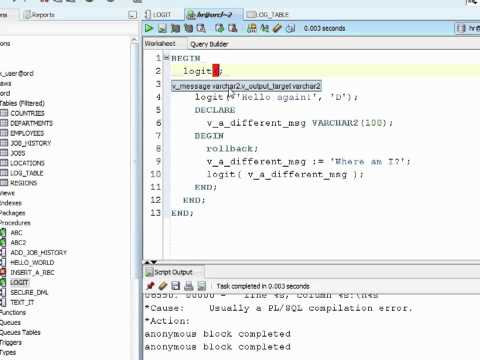 Oracle PL/SQL Tutorial -  If Statements