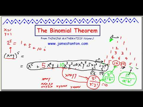 The Binomial Theorem (TANTON Mathematics)