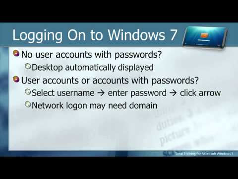 Total Training for Microsoft Windows 7 CH 1 L3. Working with User Accounts