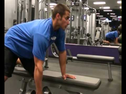 Row, 1 Arm, Dumbbell : BeYourTrainer.com