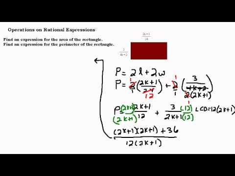 Rational Expressions - Area and Perimeter of a Rectangle
