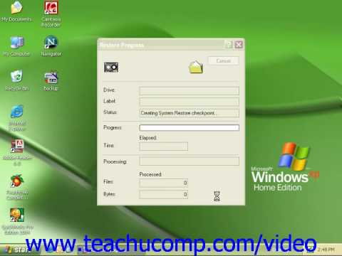 Windows XP Tutorial Restoring a Backup Microsoft Training Lesson 2.7