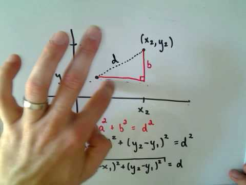 The Distance Formula - Deriving the Formula from Pythagorean Theorem