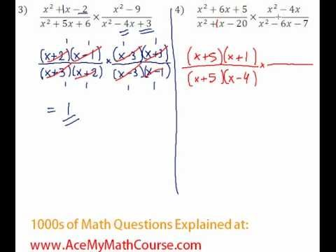 Rationals - Multiplying & Dividing Rationals Question #4