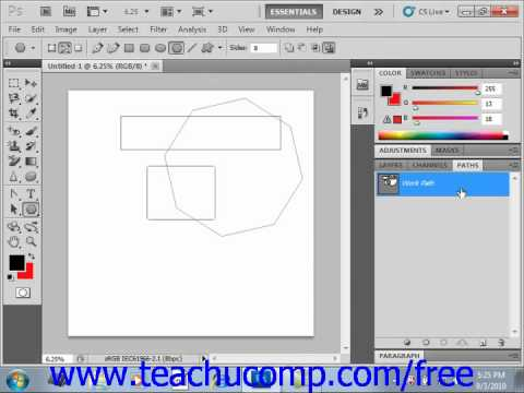 Photoshop CS5 Tutorial Using the Paths Panel Adobe Training Lesson 12.6