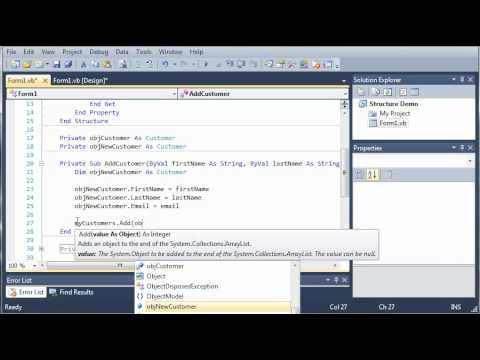 Visual Basic Tutorial - 77 - ArrayLists