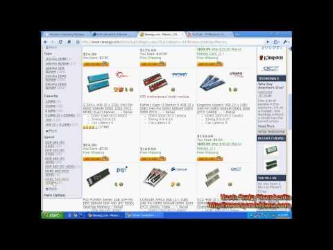 Speed Tip 8: Upgrade RAM Using Memory Finder on your Windows XP / Vista / 7 PC   Hello World!