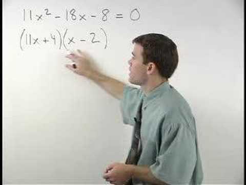 Solving Quadratic Equations by Factoring - YourTeacher.com