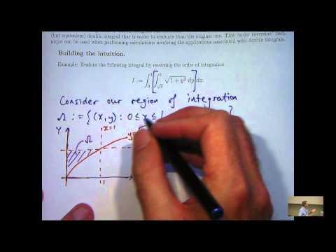 Reversing order in double integrals