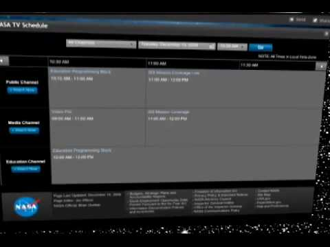 NASA TV Schedule on the Web