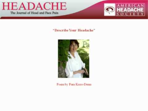 Pam Kress-Dunn: Describe Your Headache
