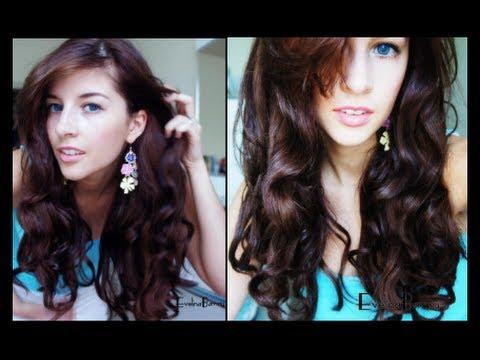 Soft Bouncy Heatless Curls