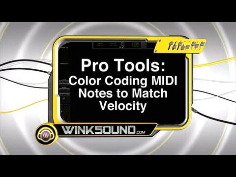 Pro Tools: Color Coding MIDI Notes to Match Velocity   WinkSound