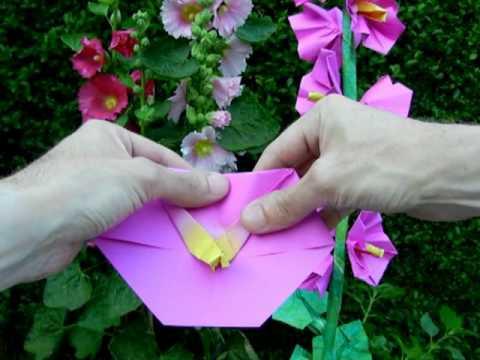 Origami Hollyhock