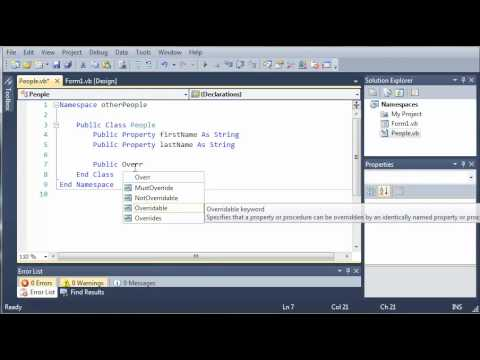 Visual Basic Tutorial - 102 - Introduction To Namespaces