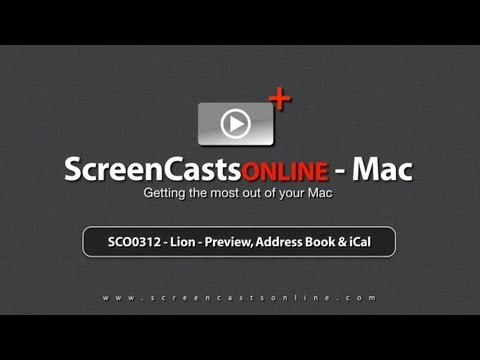 SCO0312 - Lion - Preview, Address Book & iCal