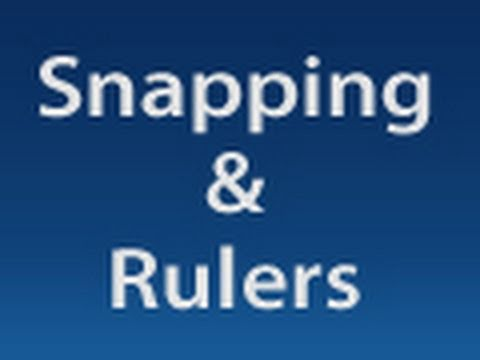 Photoshop: Snapping and Rulers