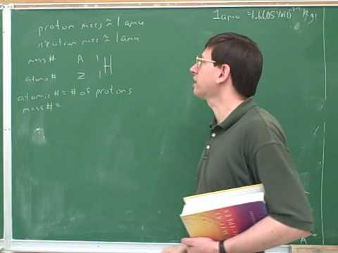 Nuclear chemistry. Binding energy (1)