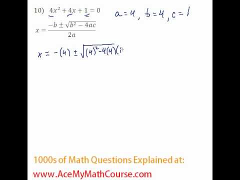 Quadratic Formula #10