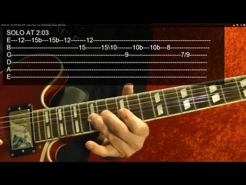 SUNSHINE OF YOUR LOVE Solo ( Guitar Lesson ) by CREAM, With Tabs