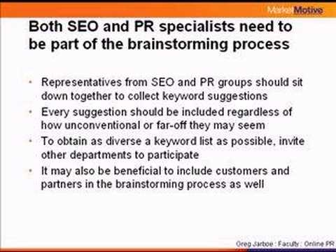 Press Release Optimization:  Choosing & Positioning Keywords