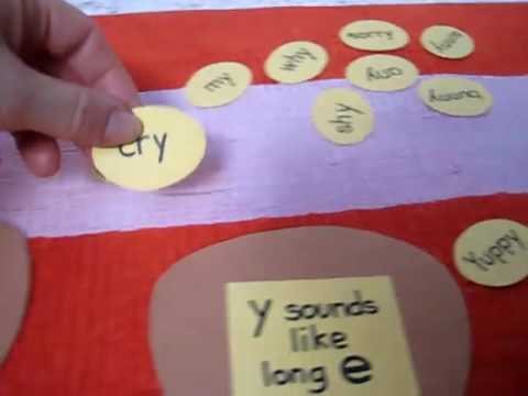 "Preschool - Reading. ""y"" ending sounds"