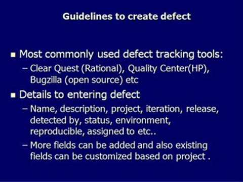 Software Testing How To Enter Defect in Defect Tracking tool