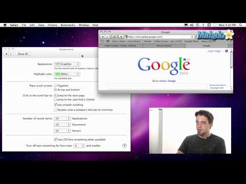 Using a Mac - Customize Interface