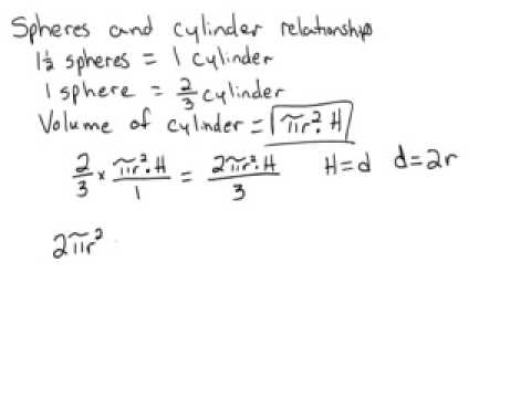 Relationships between Spheres and Cylinders Part 3