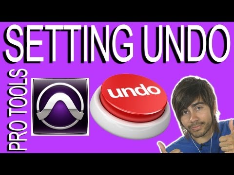 Setting Levels Of Undo - Pro Tools 9