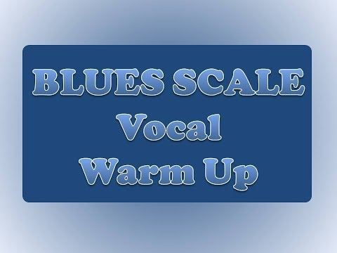 Vocal Warm Up Exercise for Singing Lessons - Blues Scale in every key - music theory