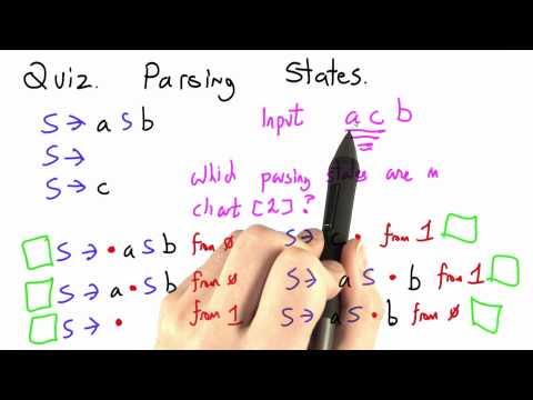 Parsing States - CS262 Unit 7 - Udacity