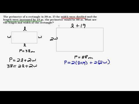 Perimeter Problem Using a System of Equations