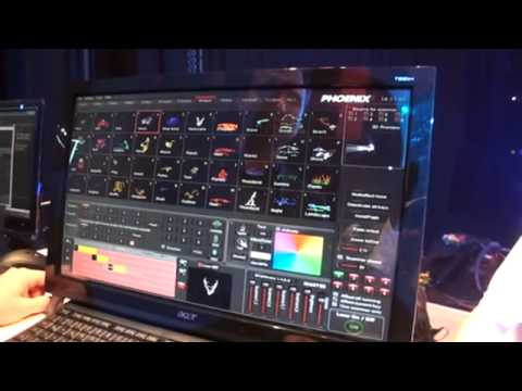 Phoenix4 The Professional showcontroller software for a laser show. Musikmesse 2012