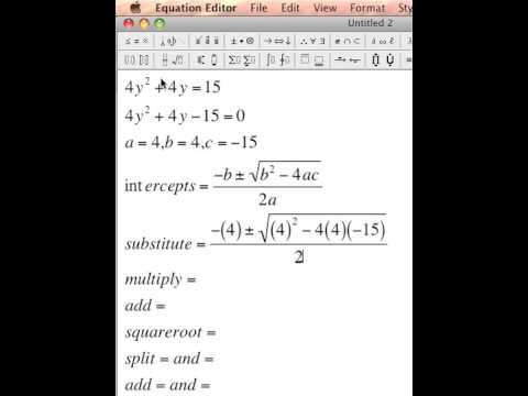 quadratic formula that does not equals zero