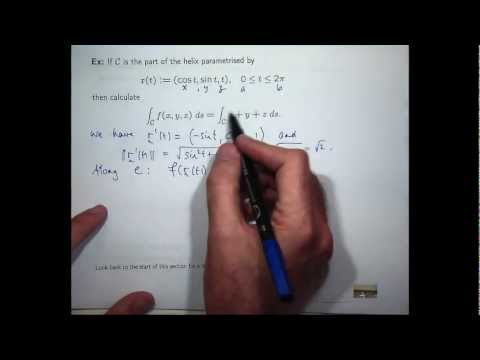 Scalar line integral example