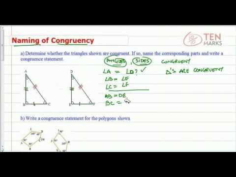 Write a Congruency Statement